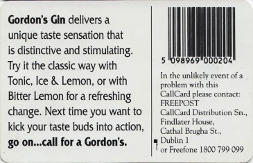 Gordon's London Dry Gin Back