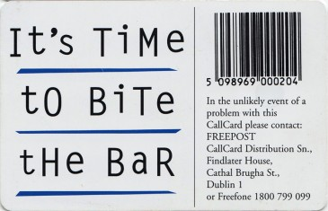 Cadbury's Time Out '95 Back