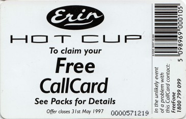 Erin Hot Cup '97 Back
