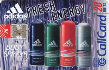 Adidas Body Sprays