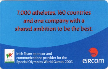 Special Olympics €4 Back
