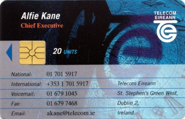Alfie Kane - Telecom Eireann Business Card