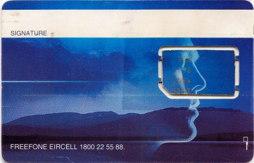 Eircell Mountain Voice GSM SIM Card 3 Back