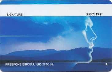 Eircell Mountain Voice GSM SIM Card (Specimen) Back