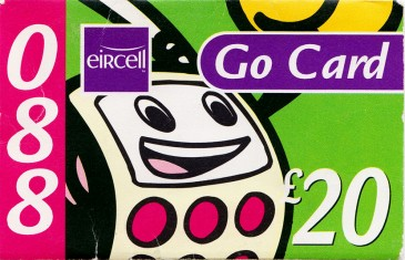 Eircell Ready to Go 088 Go Card £20 Front