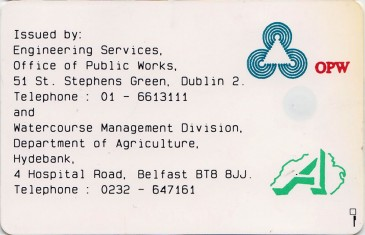 Shannon Erne  Waterway Services Card 10 units Back
