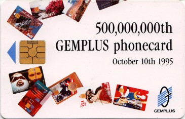Gemplus 500 Million Promotional Card Front