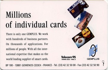 Gemplus 500 Million Promotional Card Back