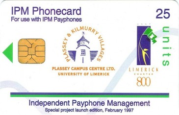 University of Limerick phonecard Front
