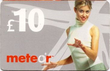 Meteor Top Up card £10 1 Front