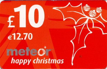 Meteor Top Up card £10 2 Front