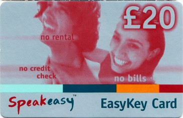 Esat Digifone Speakeasy EasyKey card £20 1 Front