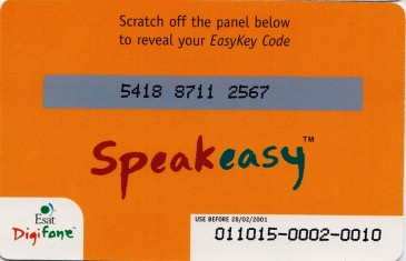 Esat Digifone Speakeasy EasyKey card £20 1 Back
