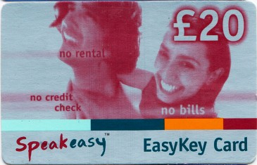 Esat Digifone Speakeasy EasyKey card £20 2 Front