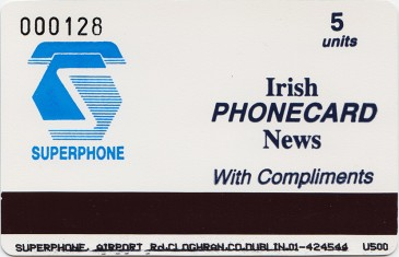 Irish Phonecard News