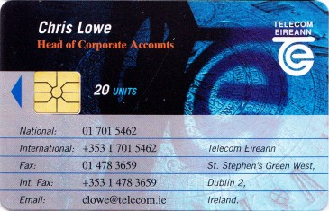 Chris Lowe - Telecom Eireann Business Card