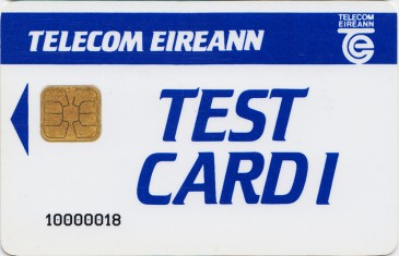 Telecom Eireann Test Card 1 (McCorquodale) Front