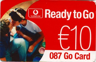 Vodafone Ready to Go Go Card Front